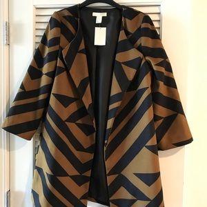 Oversized lapel blazer jacket